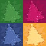 De achtergrond van Kerstmis vier Royalty-vrije Stock Foto