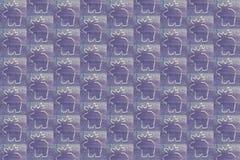 De achtergrond van Kerstmis Wit rendier op violette achtergrond Royalty-vrije Stock Afbeeldingen