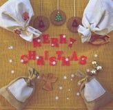 De achtergrond van Kerstmisgelukwensen Royalty-vrije Stock Foto's