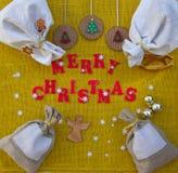 De achtergrond van Kerstmisgelukwensen voor arbeiders Stock Foto's
