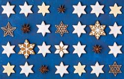 De achtergrond van Kerstmiskoekjes Stock Fotografie