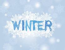 De achtergrond van de Kerstmissneeuwval De kaart van de de sneeuwgroet van de de wintervakantie vector illustratie