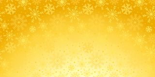 De achtergrond van de Kerstmisvakantie met sneeuwvlokken en sterren in gouden c vector illustratie