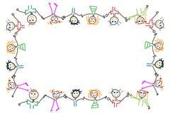 De achtergrond van kinderen Stock Foto's