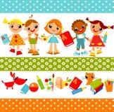 De achtergrond van kinderen. onderwijs Stock Fotografie