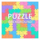 De achtergrond van kinderen` s Raadsels met gekleurde tetrisvormen 100 stukken Royalty-vrije Stock Afbeelding