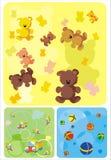De achtergrond van kinderjaren Vector Illustratie