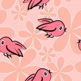 De achtergrond van kinderjaren met vogels Royalty-vrije Stock Afbeelding