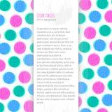 De achtergrond van kleurencirkels Stock Fotografie