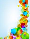 De achtergrond van kleurencirkels Stock Afbeelding