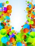 De achtergrond van kleurencirkels Royalty-vrije Stock Foto's