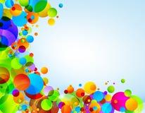 De achtergrond van kleurencirkels Royalty-vrije Stock Fotografie