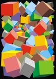 De achtergrond van kleurenkubussen Royalty-vrije Stock Fotografie