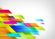 De Achtergrond van kleurensqueare Stock Foto's