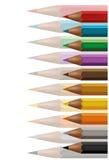 De achtergrond van kleurpotloden Royalty-vrije Stock Afbeelding