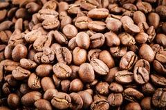 De achtergrond van koffiebonen Stock Foto's