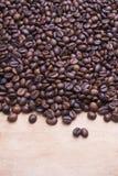 De achtergrond van koffiebonen Stock Afbeelding
