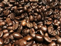 De achtergrond van koffiebonen, Geroosterde koffiebonen Royalty-vrije Stock Afbeelding