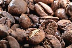 De achtergrond van koffiebonen voor voedsel stock afbeeldingen