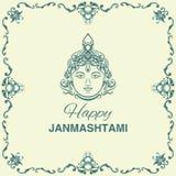 De achtergrond van Krishnajanmashtami Stock Foto