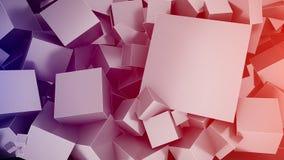 De achtergrond van kubussen Stock Afbeeldingen