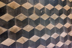 De achtergrond van kubustegels Stock Foto's