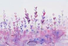 De achtergrond van de Lavendelwaterverf Royalty-vrije Stock Foto