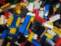 De achtergrond van Legobakstenen in Kopenhagen Royalty-vrije Stock Foto