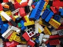 De achtergrond van Legobakstenen in Kopenhagen Stock Fotografie