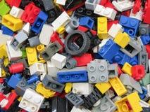 De achtergrond van Legobakstenen in Praag Royalty-vrije Stock Afbeeldingen