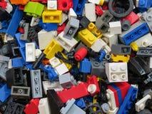 De achtergrond van Legobakstenen in Praag Royalty-vrije Stock Foto's