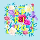 De achtergrond van de lenteinzamelingen vector illustratie