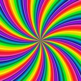 De achtergrond van levendige regenboog kleurde werveling verdraaiend naar centrum Vector illustratie stock illustratie