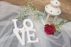 De achtergrond van liefdetulle Stock Afbeelding