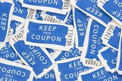 De Achtergrond van loterijkaartjes Stock Fotografie