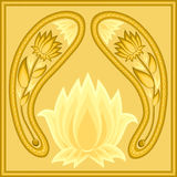De achtergrond van Lotus Stock Afbeeldingen