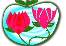 De Achtergrond van Lotus Royalty-vrije Stock Foto's