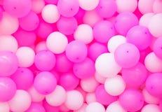 De achtergrond van luchtballons Roze airballoonstextuur Meisjesverjaardag of de romantische achtergrond van de huwelijksfoto royalty-vrije stock afbeeldingen