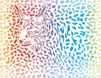 De achtergrond van lynxcanadensis - illustratie stock afbeelding