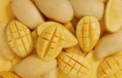 De Achtergrond van mango's Stock Foto