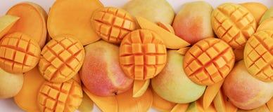 De Achtergrond van mango's Royalty-vrije Stock Afbeelding