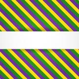 De achtergrond van Mardigras met banner Stock Afbeeldingen