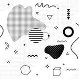 De achtergrond van Memphis De abstracte 80-jaren '90 van de patroonmanier Stock Afbeeldingen