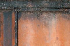 De achtergrond van de metaalroest, grunge roest en corrosie achtergrondtextuur stock foto
