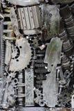 De achtergrond van metaaltoestellen Stock Foto