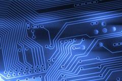 De achtergrond van de microchip - close-up van elektronische kringsraad Royalty-vrije Stock Afbeeldingen