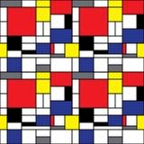 De Achtergrond van Mondrian Stock Afbeeldingen