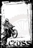 De achtergrond van Motorcross Stock Afbeeldingen