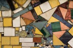 De achtergrond van de mozaïekmuur Kunstraadsel stock afbeelding