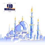 De achtergrond van Mubarak van Eid Royalty-vrije Stock Fotografie